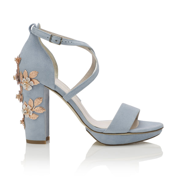 Arabella Block Blue Blossom Rose Gold