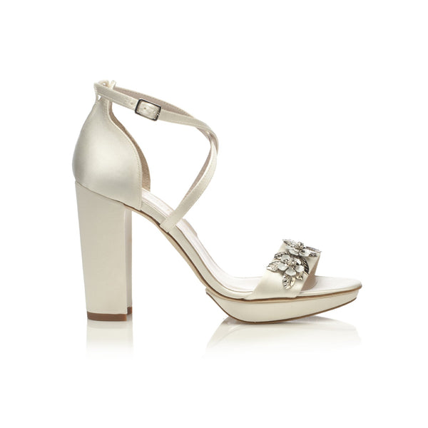 Arabella Block Ivory Bridal Shoes