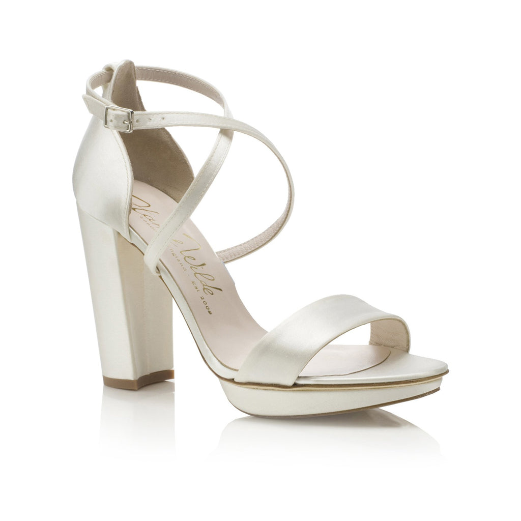 Arabella Block Heel Bridal Wedges