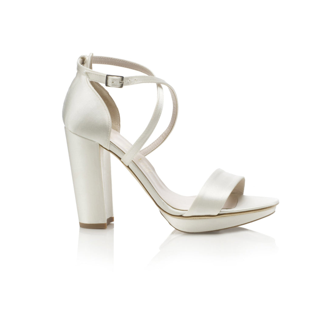 Block Heel Wedding Shoes Arabella Block Heel Ivory Bridal Shoes
