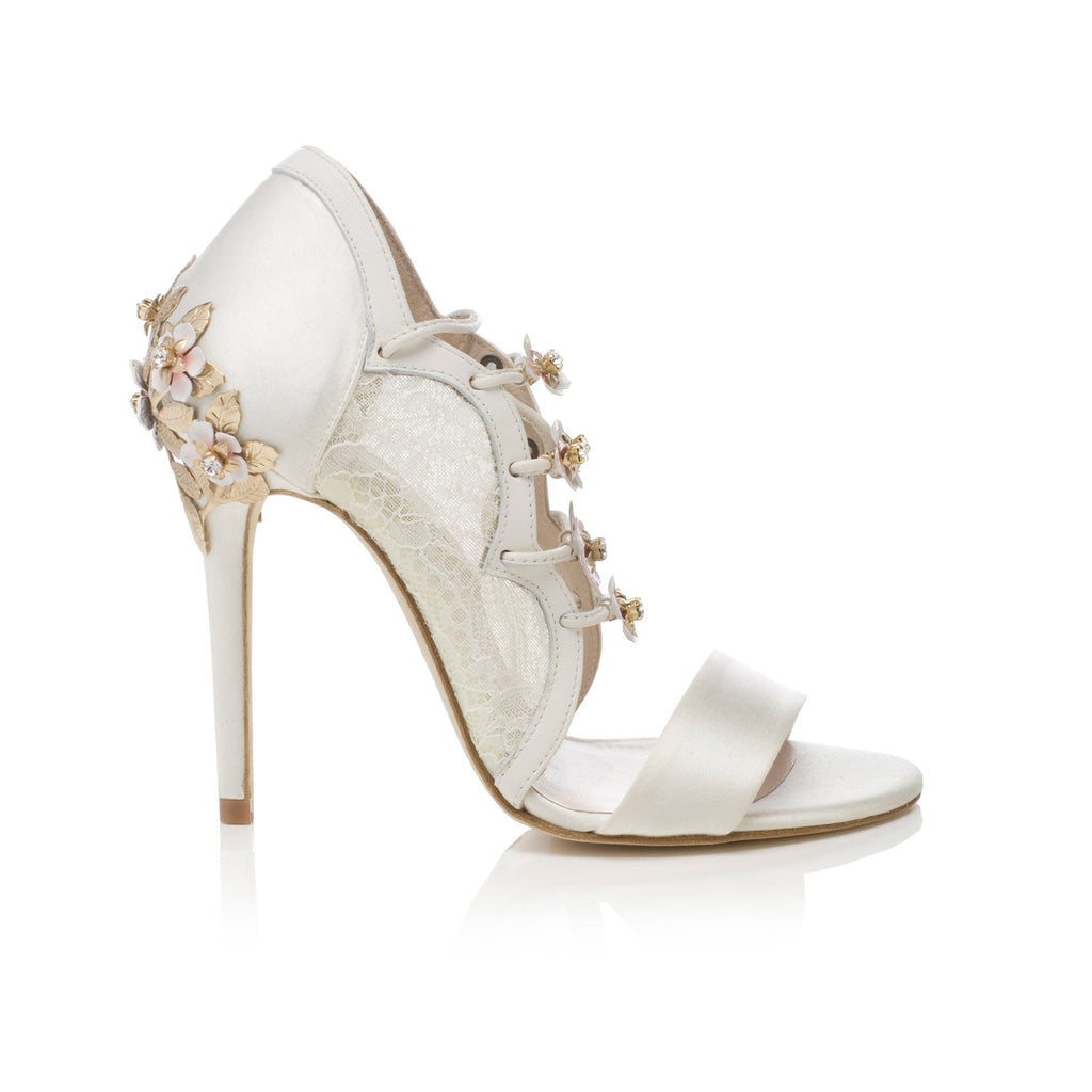 Decade High Ivory Bridal Shoes