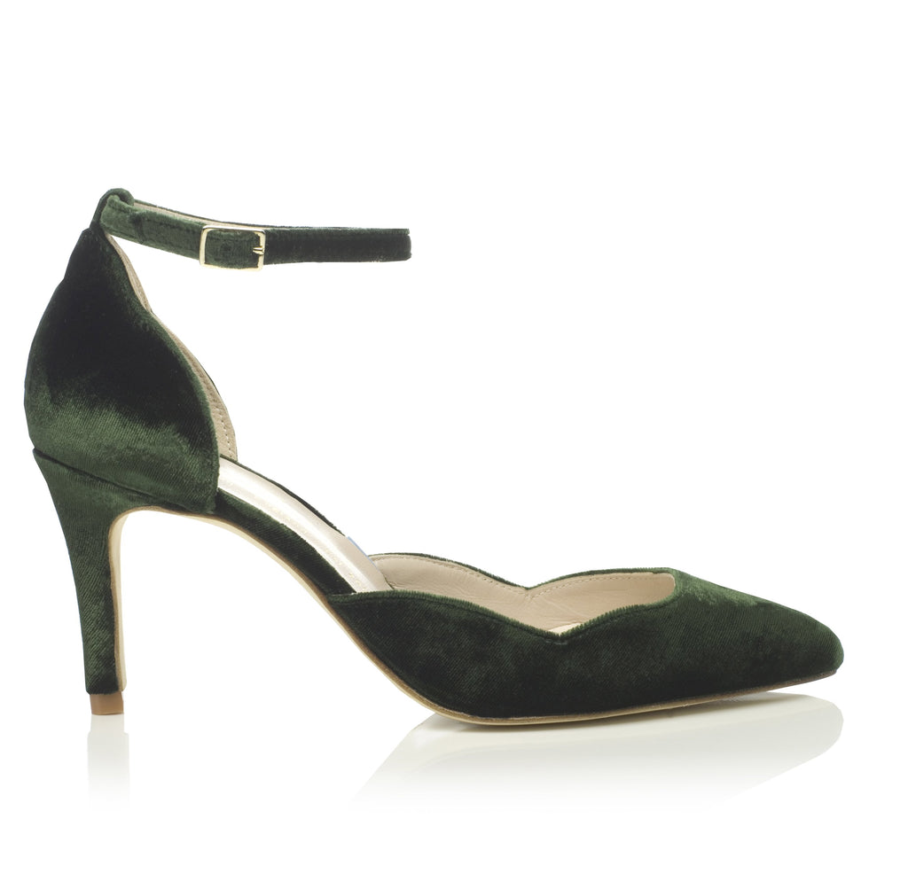 Forest Green Bridal Shoes