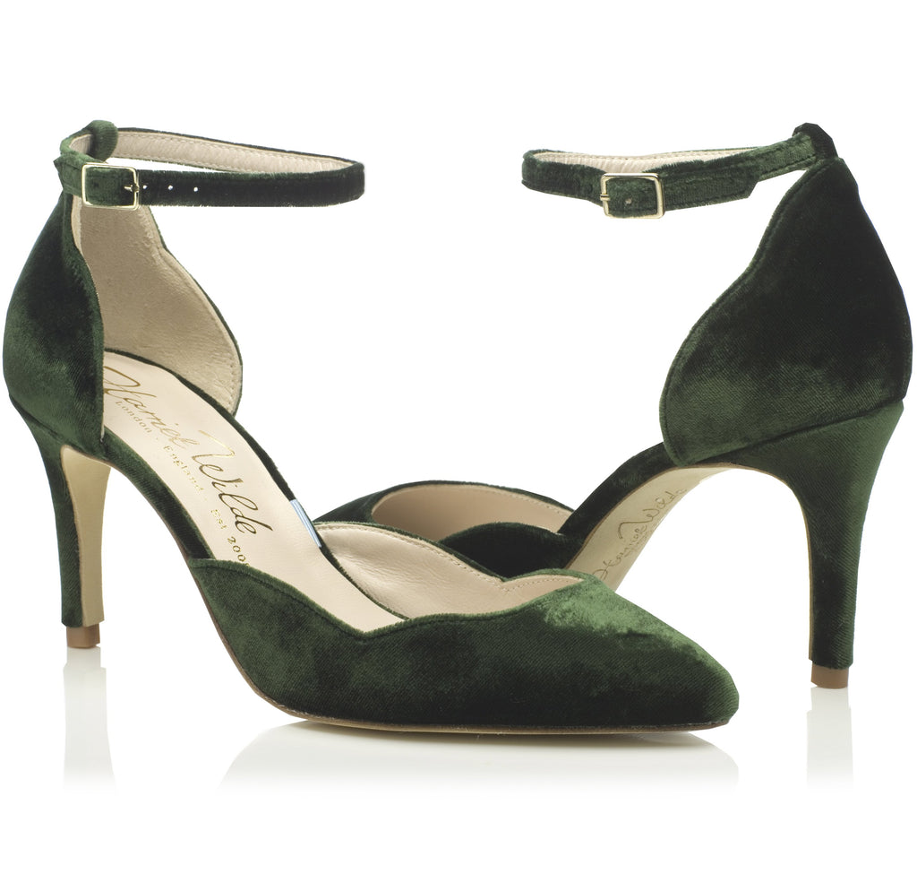 Bridal Shoes - Sahara Mid Forest Green