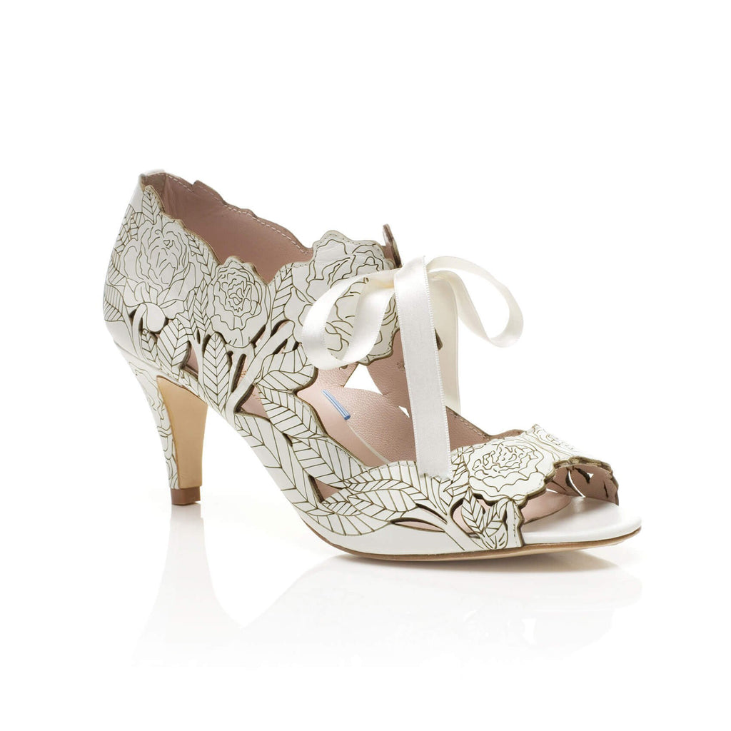 Peony Low Heel Bridal Shoes