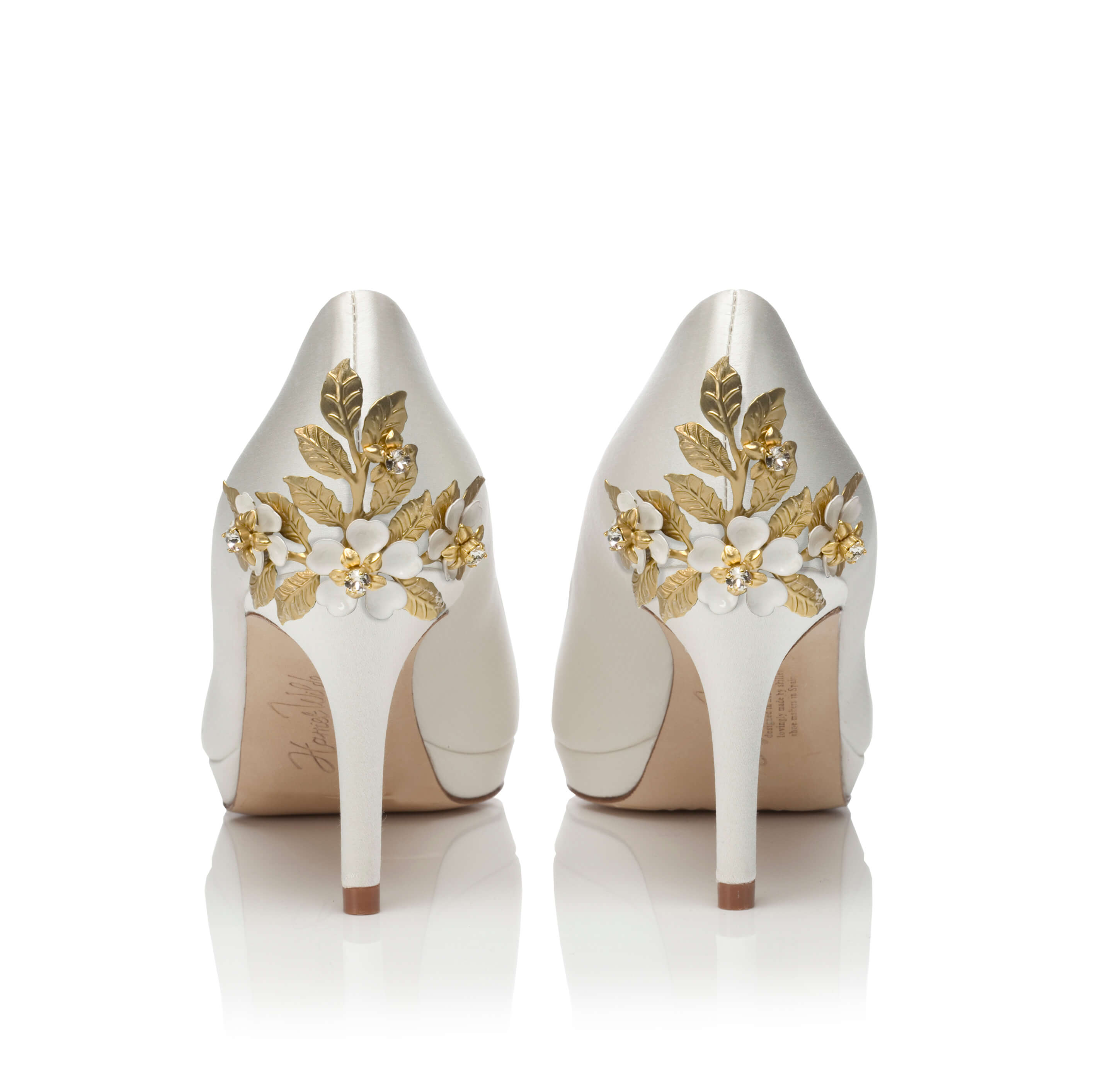 Amy Mid Ivory -  Amy Mid Blossom Small Gold