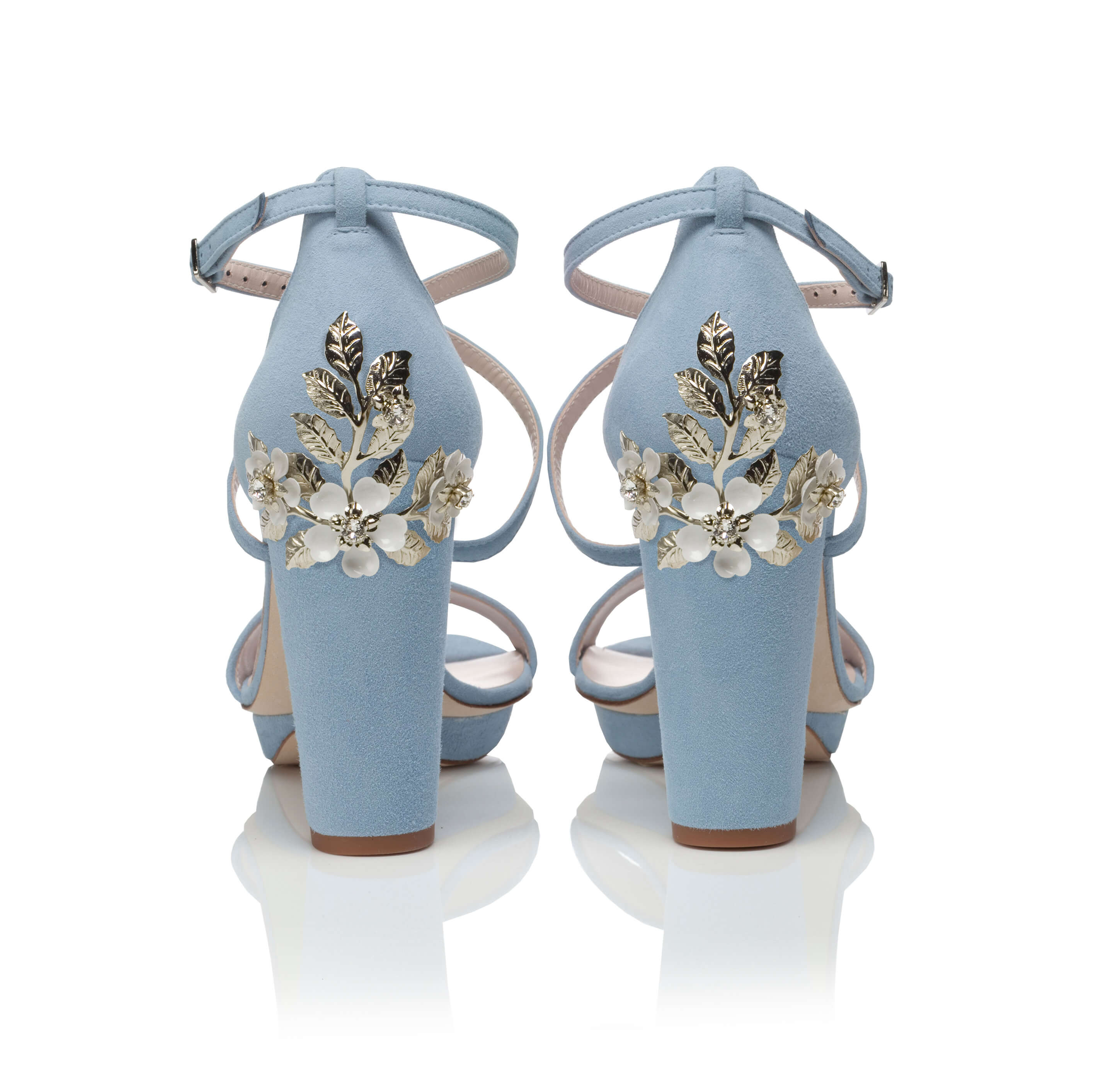 Arabella Block Blue -  Arabella Block Blue Blossom Small Silver
