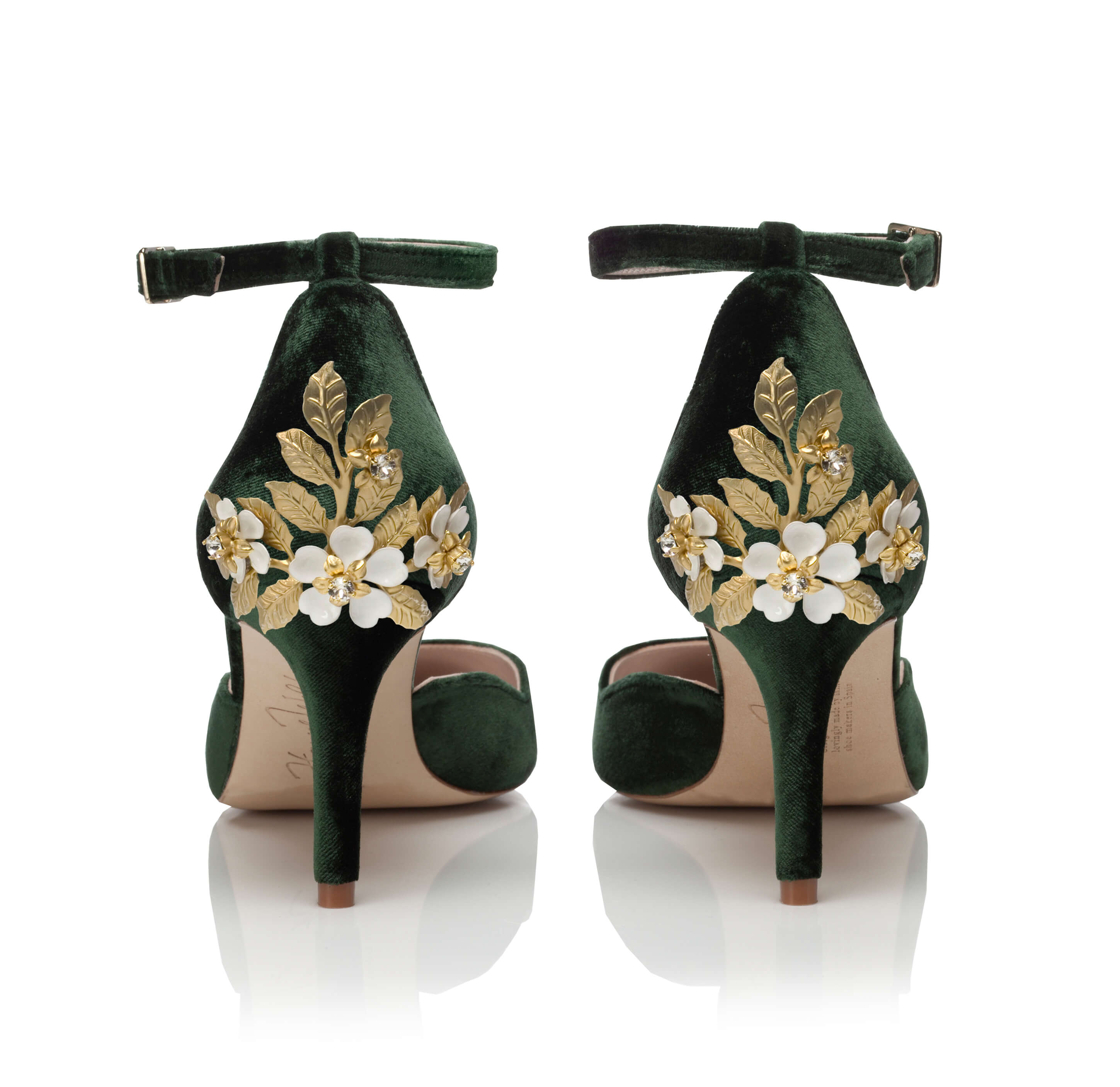 Sahara Mid Forest Green -  Sahara Mid Forest Green Blossom Small Gold