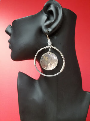 A Hammered Disc earring