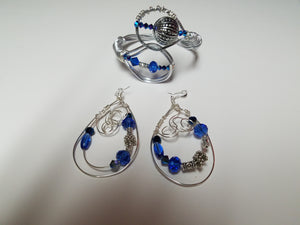 Blue crystal & Wire Set