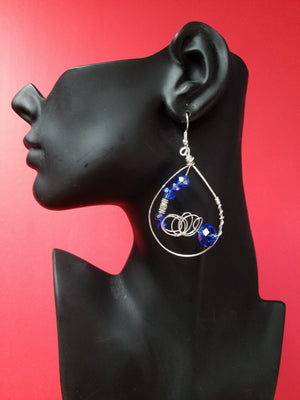 H00PS-Blue wire earrings