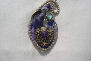 Amethyst brooch - SOLD!
