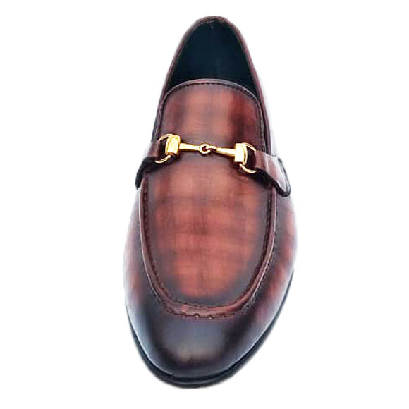 Johny Weber Luxury Handpainted brown loafers