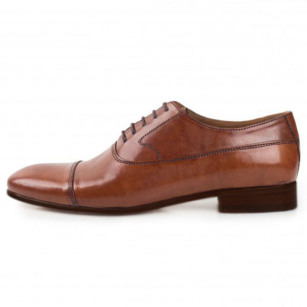 Johny Weber Handmade Oxford Style Brown Leather - Johny Weber