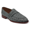 Johny Weber Handmade Loafers In Gray Ostrich Leather - Johny Weber
