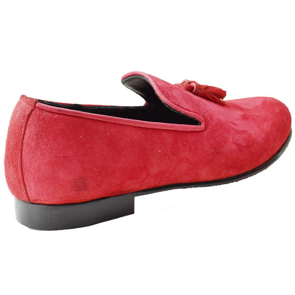 Johny Weber Handmade Red Color Casual Suede Loafer - Johny Weber
