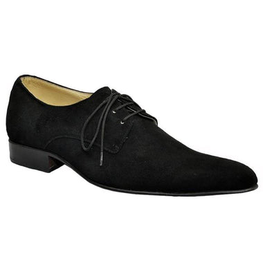 Johny Weber Handmade Black Suede Leather Shoes - Johny Weber