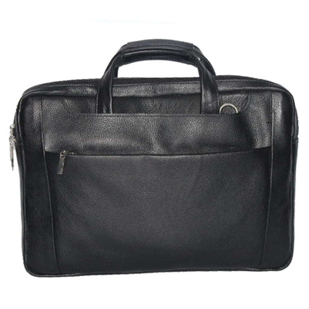 Johny Weber Handmade Black Leather Laptop Bag