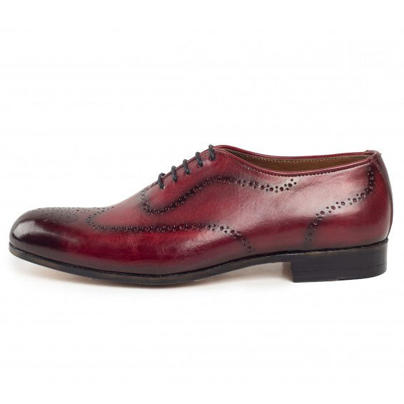 Johny Weber Handmade Oxford Red Patina Shoes - Johny Weber