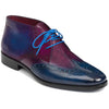 Johny Weber Handmade Blue And Red Double Shade Leather Chukka Boot - Johny Weber
