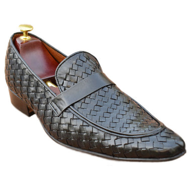 Johny Weber Handmade Knitted Black Loafers - Johny Weber