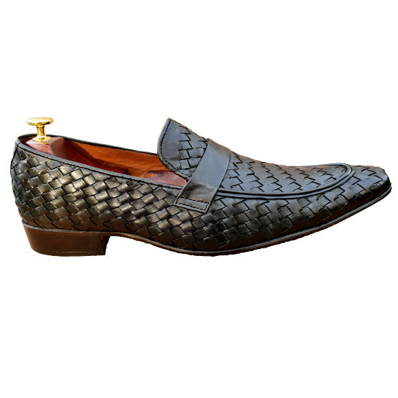Johny Weber Hand Knitted Black Loafers