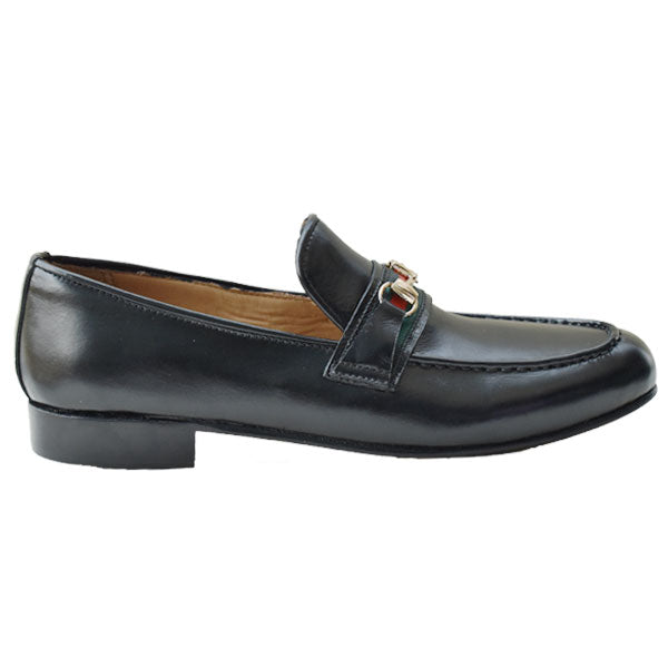 Johny Weber Handmade Black Leather Mixed Loafers