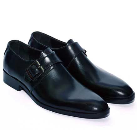 Johny Weber Handmade Single Monk Strap Leather Shoes