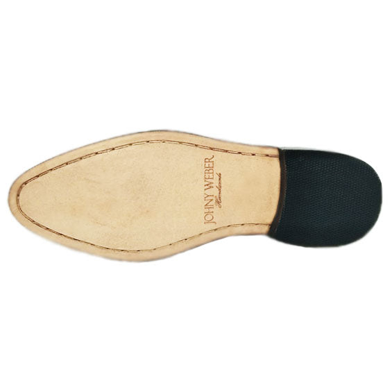 Johny Weber Luxury Handmade Painted brown loafers - Johny Weber