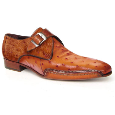 Johny Weber Handmade Brown Ostrich Leather Oxford Shoes