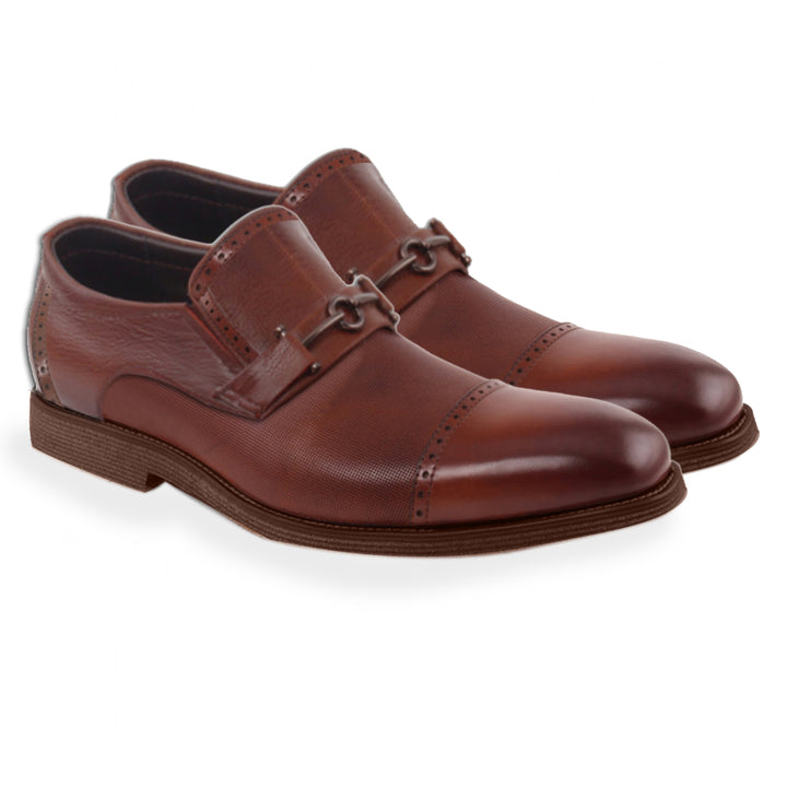 Johny Weber Handmade Brown Leather Oxford Shoes - Johny Weber