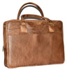 Johny Weber Handmade Vintage Leather Slim Briefcase. - Johny Weber