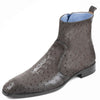Johny Weber Handmade Grey Ostrich Leather Chukka Boot