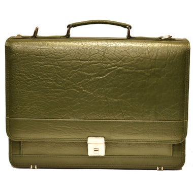 Johny Weber Handmade Messenger Style Leather Briefcase - Johny Weber
