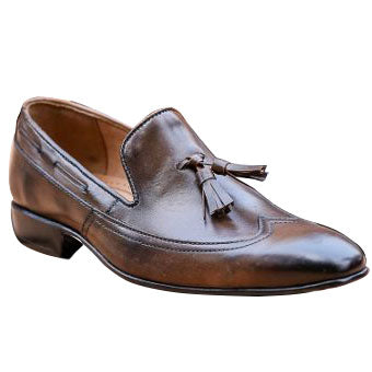 Johny Weber Handmade Leather Dark Brown Loafers