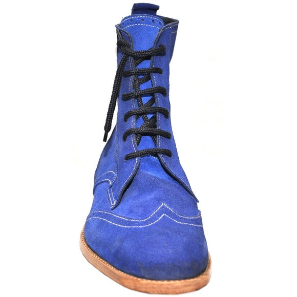 Johny Weber Hand Made Lace Up Suede Long Boots