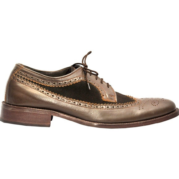 Johny Weber Handmade Brown Brook Stylish Leather Shoes