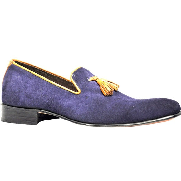 Johny Weber Handmade Blue Casual Suede Leather