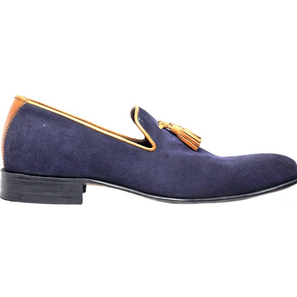 Johny Weber Handmade Blue Casual Suede Leather - Johny Weber