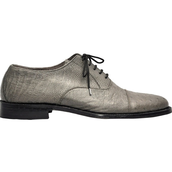 Johny Weber Handmade Gray Ostrich  Leather Oxfords - Johny Weber