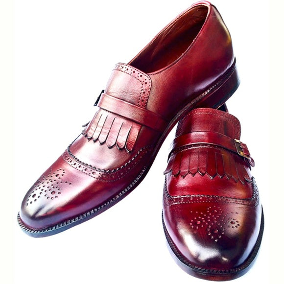 Johny Weber Handmade MonkStrap Double Shaded Shoes