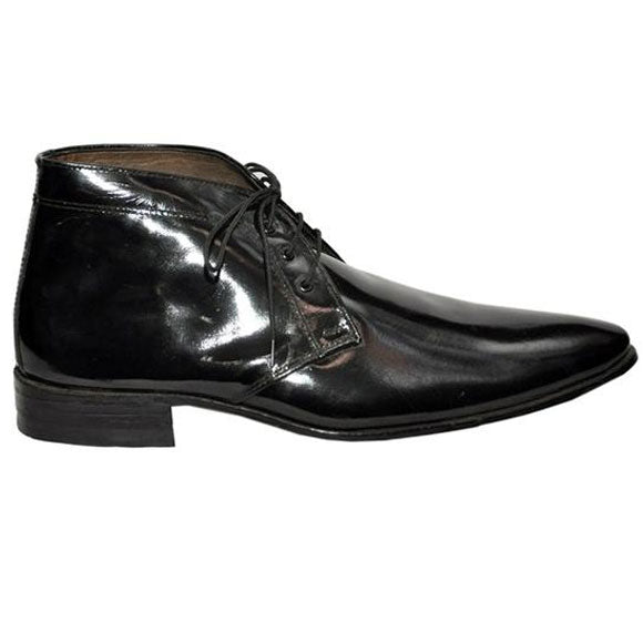 Johny Weber Handmade Black Leather Chukka Boot - Johny Weber