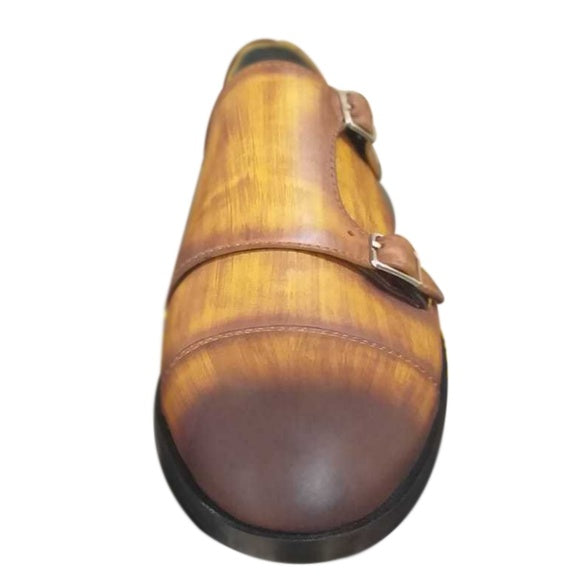 Johny Weber Handmade Painted and Crafted Monk Loafers - Johny Weber
