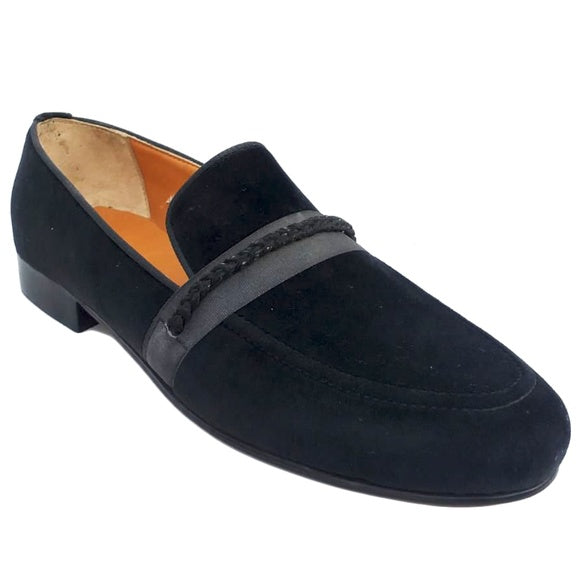 Johny Weber Handmad Suede Leather Shoes With Strap