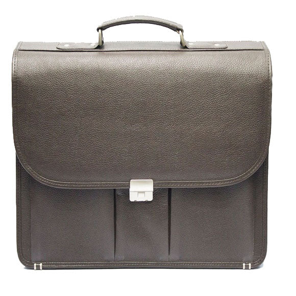 Johny Weber Hand Made Brown Briefcase