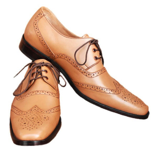 Johny Weber Handmade Oxford Style Men Leather