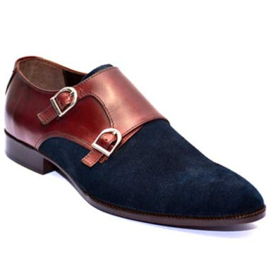 Johny Weber Handmade Monk Strap With Blue Suede Leather - Johny Weber