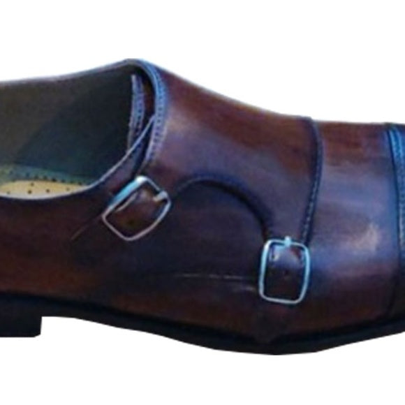Johny Weber Hand Painted and Crafted Monk Loafers