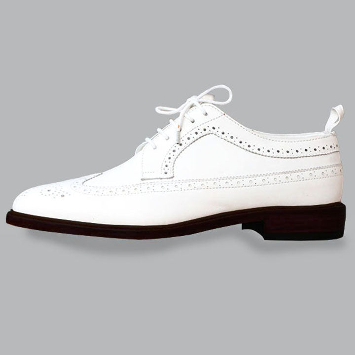 Johny Weber Handmade Brook Style White Oxfords - Johny Weber