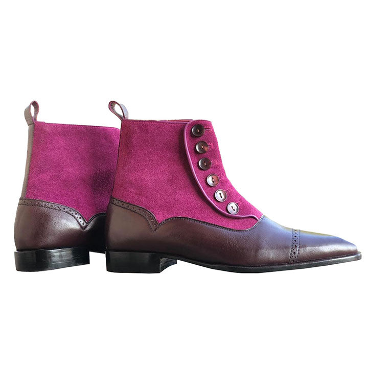 Johny Weber Handmade Classic Button Ankle Boots - Johny Weber