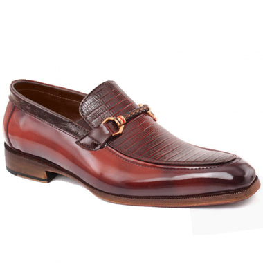Johny Weber Handmade Red Oxford Loafer Shoes - Johny Weber